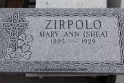 Irish flat grave marker design