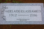 grave marker for one person
