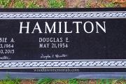 custom cemetery marker in black granite - Boston MA