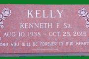 Red granite grave marker