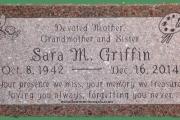 custom designed grave marker - Wood End Cemetery, Reading MA